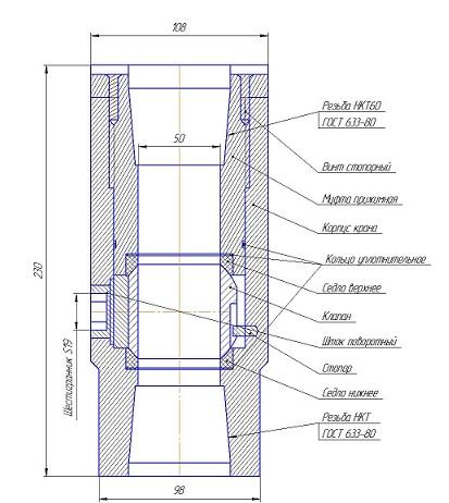Конструкция крана КШ-60-21