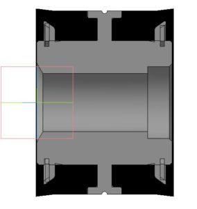 Поршень Ф 127 мм в разрезе